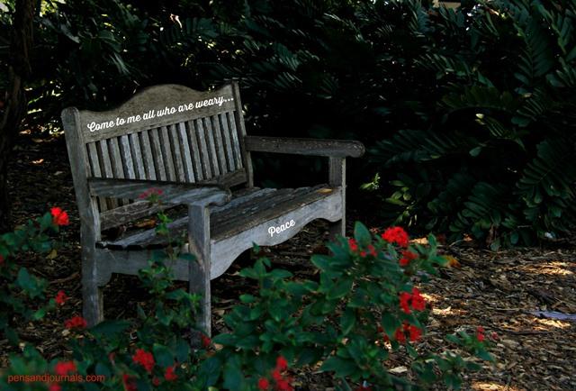 scripture bench